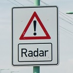 Radar Warnschild